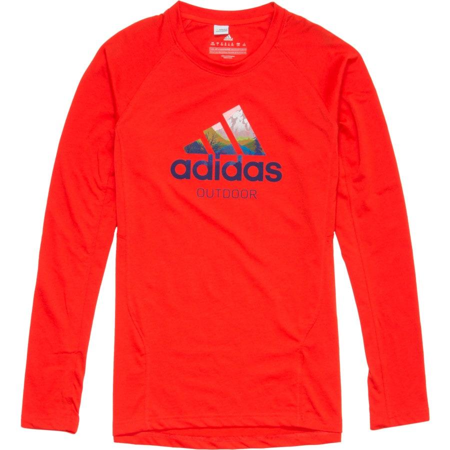 Adidas outdoor hiking t shirt long sleeve men 39 s for Mens outdoor long sleeve shirts