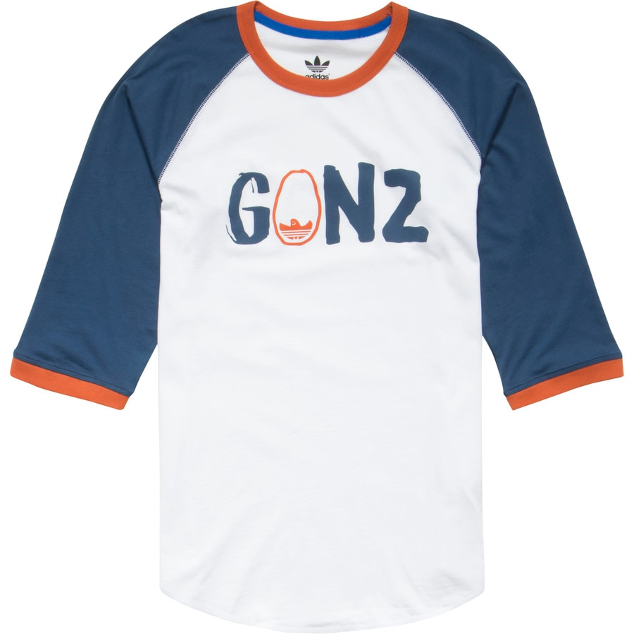 Adidas gonz ringer raglan t shirt 3 4 sleeve men 39 s for Adidas ringer t shirt