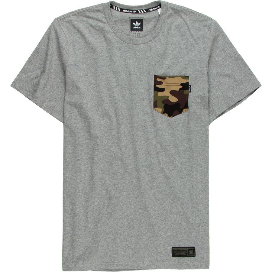 Adidas camo pocket t shirt men 39 s for Boys pocket t shirt