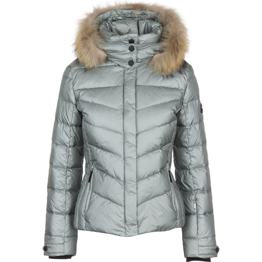 bogner fire ice sally lightweight metallic ripstop jacket with fur women 39 s. Black Bedroom Furniture Sets. Home Design Ideas
