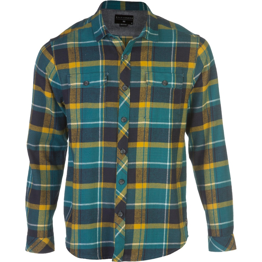 Billabong dawson flannel shirt long sleeve men 39 s for Places to buy flannel shirts