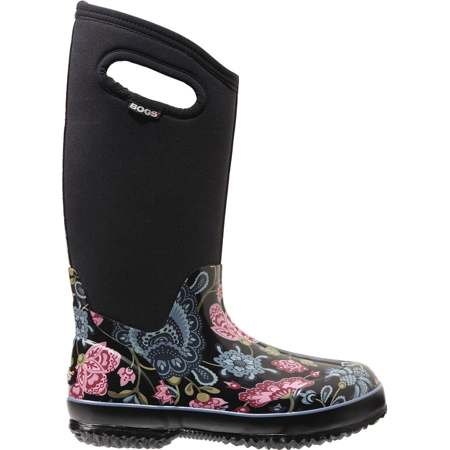 bogs classic winter blooms boot womens