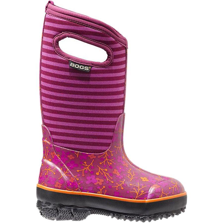 Bogs Classic Flower Stripes Rain Boot - Girls