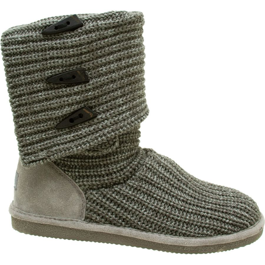 Bearpaw Knit Tall Triangle Button Boot - Womens