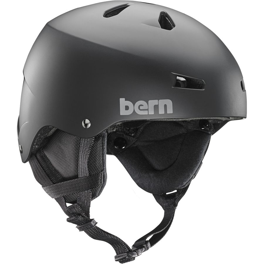 Bern Team Macon EPS Thin Shell Helmet wiht Earflaps