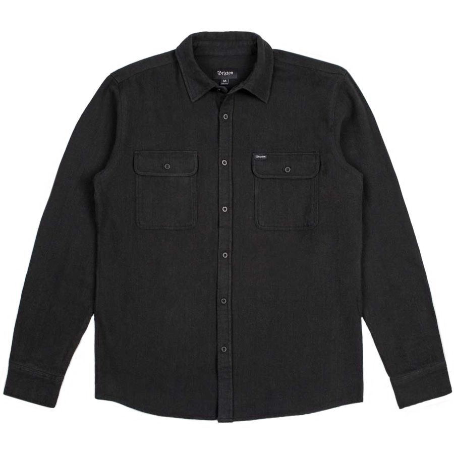 brixton donez solid flannel shirt long sleeve men 39 s