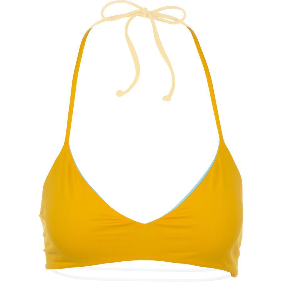 Basta Zunzal Solid Reversible Bungee Bralette Bikini Top - Womens