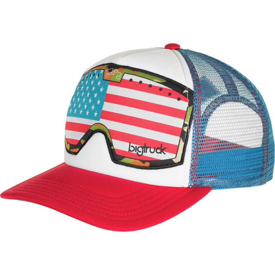 Bigtruck brand original goggle trucker hat for American flag fish hat