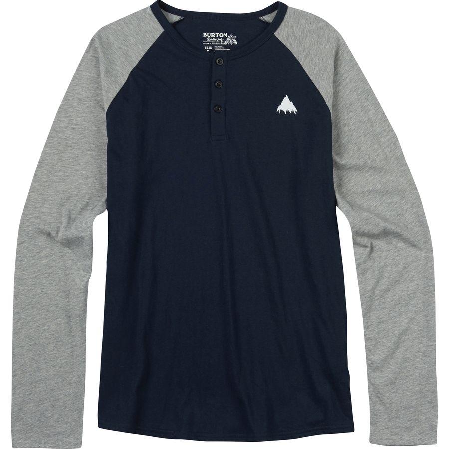 Burton Lifty Henley Slim Fit T-Shirt - Long-Sleeve - Mens