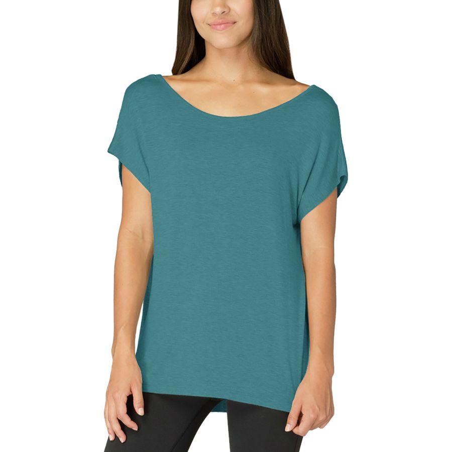 Beyond Yoga Slinky Back Flare Short-Sleeve Shirt  - Womens