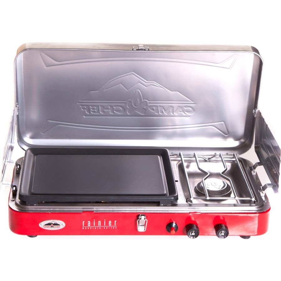 Stove With Griddle ~ Camp chef rainier burner stove with griddle