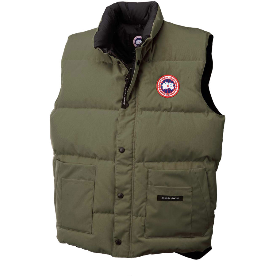 canada goose vest lodge down for men in black