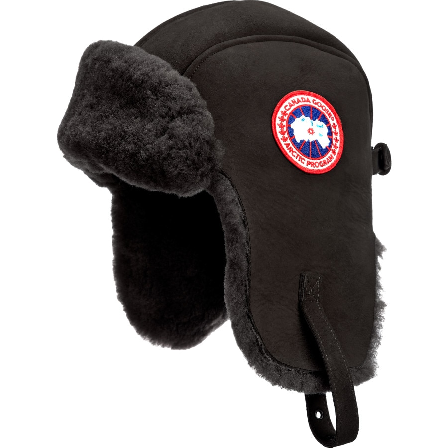 Canada Goose' Men's Arctic Tech Shearling Pilot Hat - Black - Size S/M