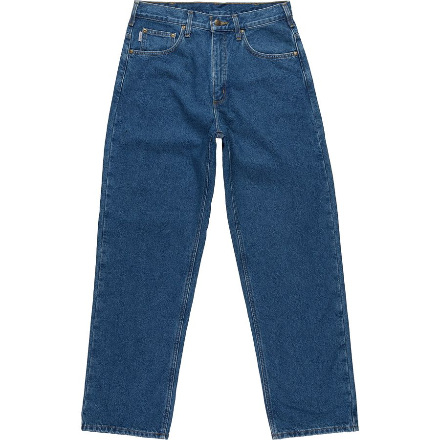 Carhartt Relaxed-Fit Straight-Leg Flannel Lined Denim Pant - Mens