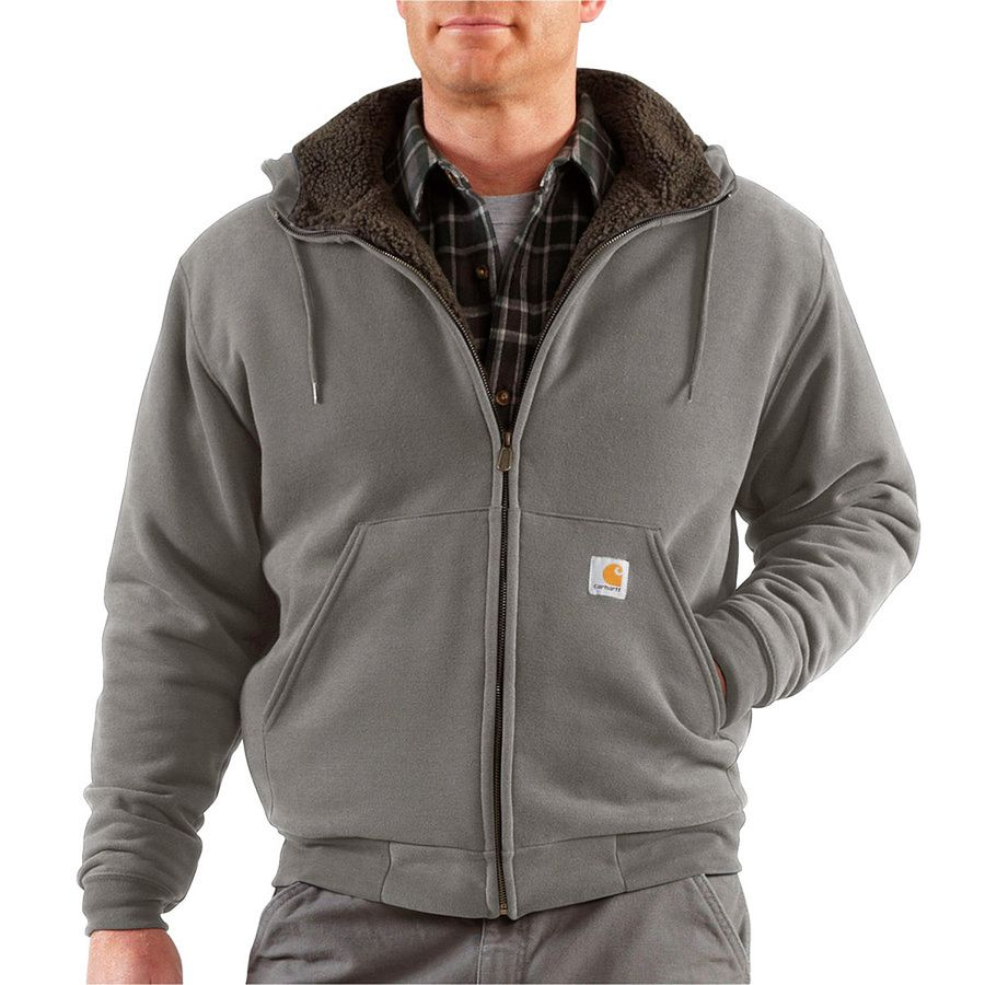 Carhartt Collinston Brushed Fleece Sherpa-Lined Full-Zip ...