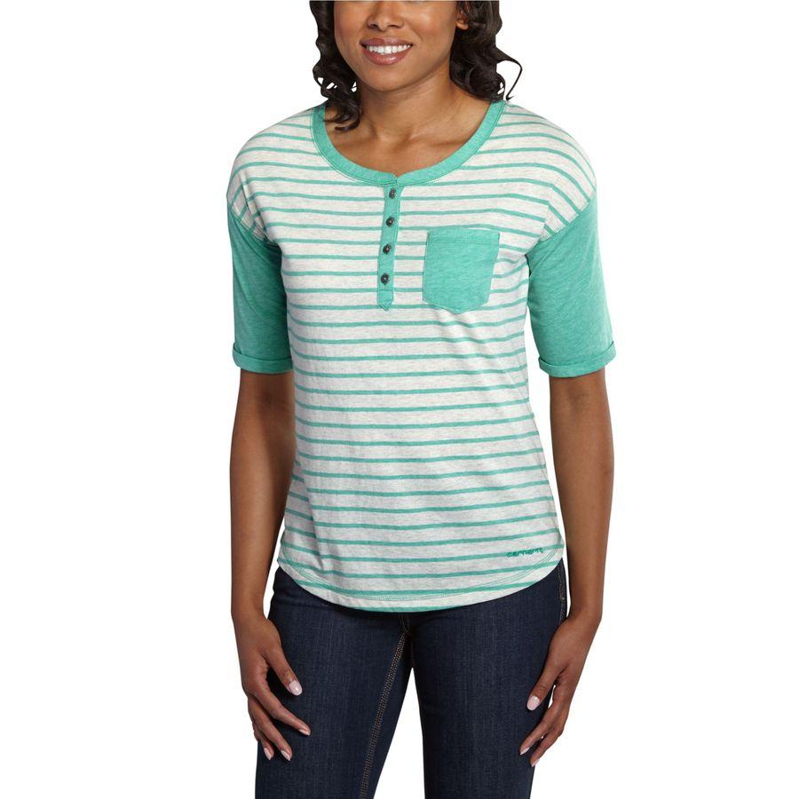 Carhartt Reagan Henley Shirt - Short-Sleeve - Womens