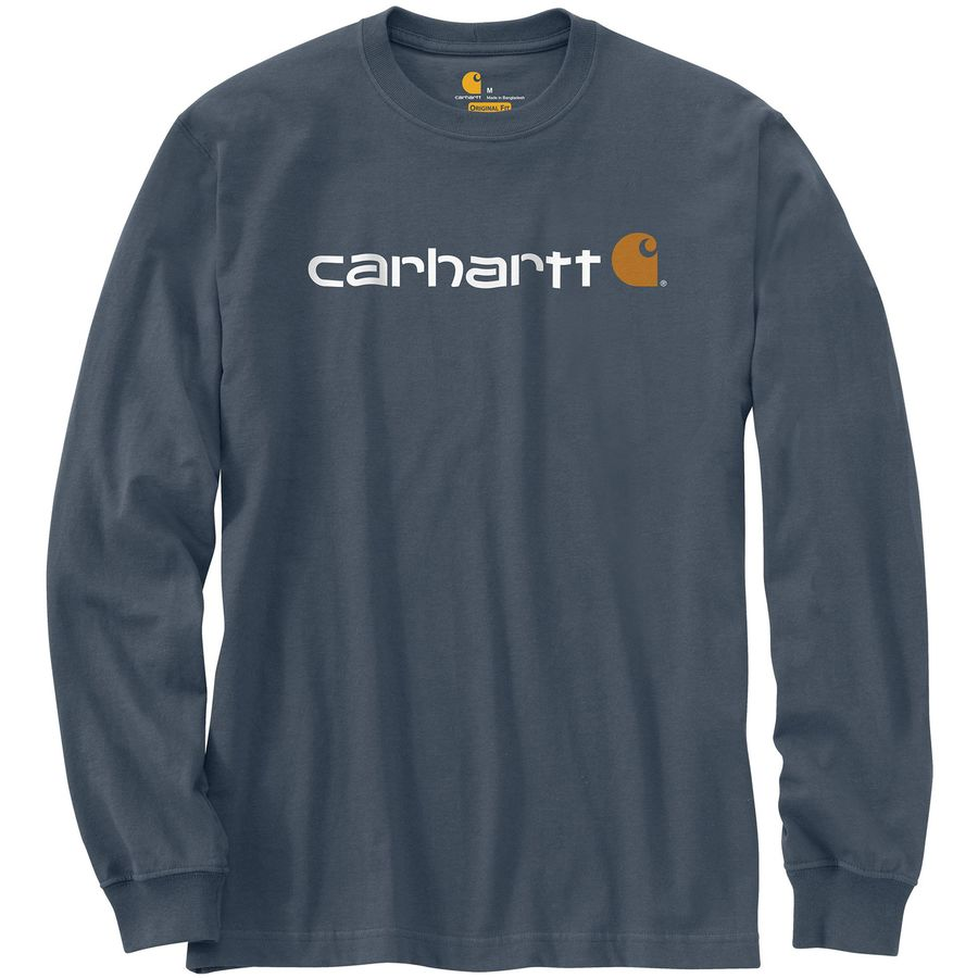 Carhartt signature logo t shirt men 39 s for Carhartt burgundy t shirt