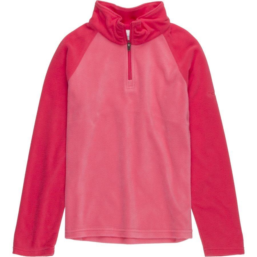 columbia glacial 1 2 zip fleece pullover girls 39 up to. Black Bedroom Furniture Sets. Home Design Ideas