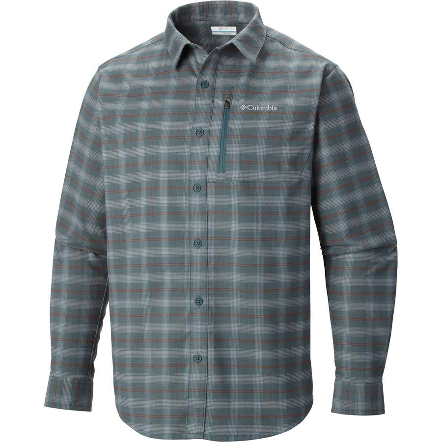 Columbia royce peak flannel shirt long sleeve men 39 s for Mens long sleeve flannel shirts