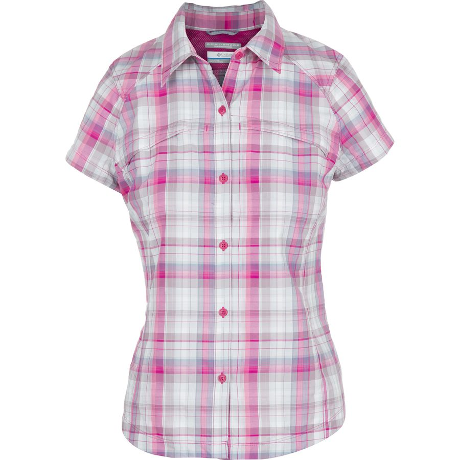 Columbia silver ridge multi plaid shirt women 39 s Short sleeve plaid shirts