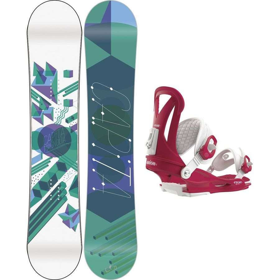 Capita Magnolia x Union Rosa Snowboard Package