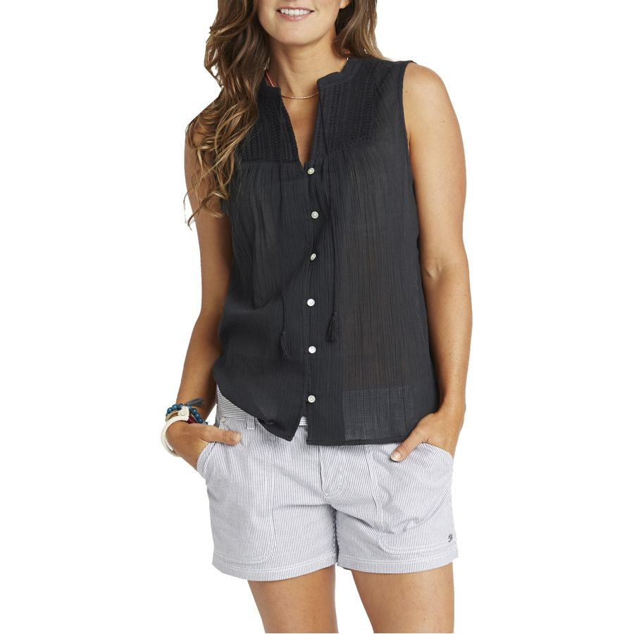 Carve designs alix gauze shirt sleeveless women 39 s for Women s broadcloth shirts