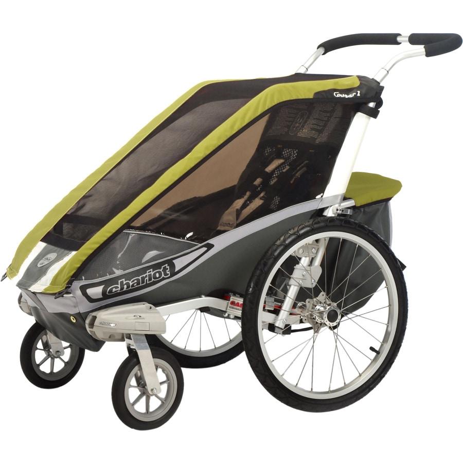 thule chariot cougar 1 stroller with strolling kit. Black Bedroom Furniture Sets. Home Design Ideas