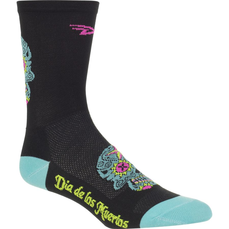 DeFeet Aireator Sugar Skull Hi-Top 5in Sock