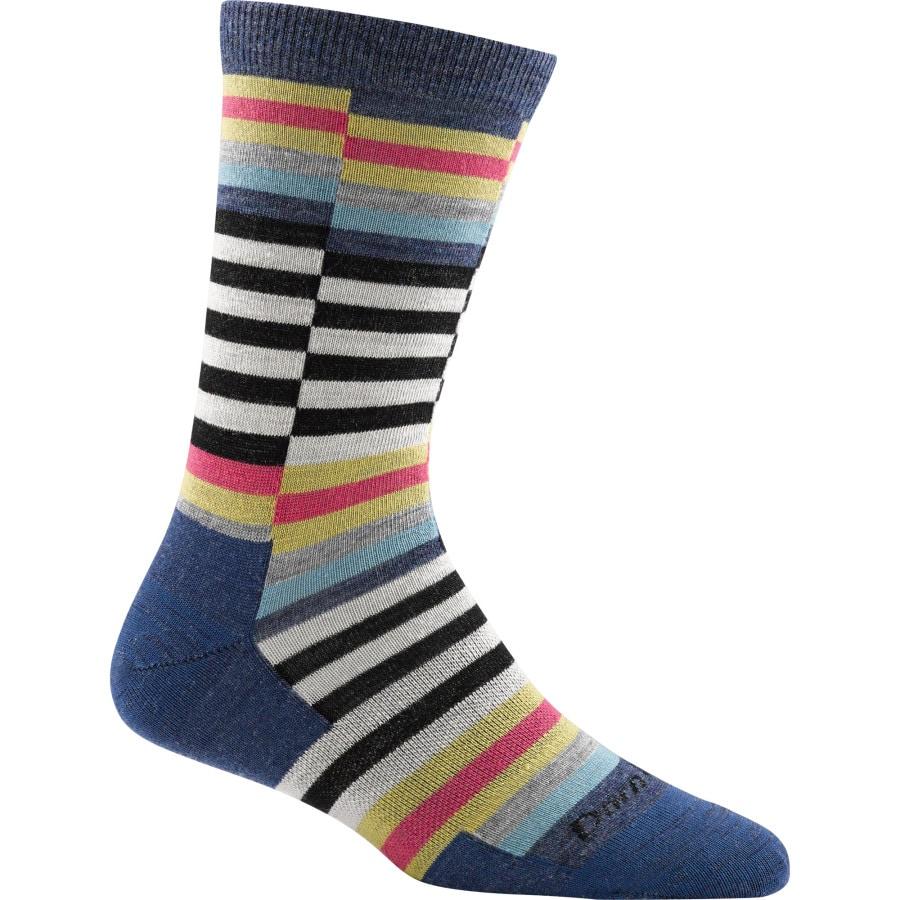 Darn Tough Merino Wool Offset Stripe Light Crew Socks - Womens