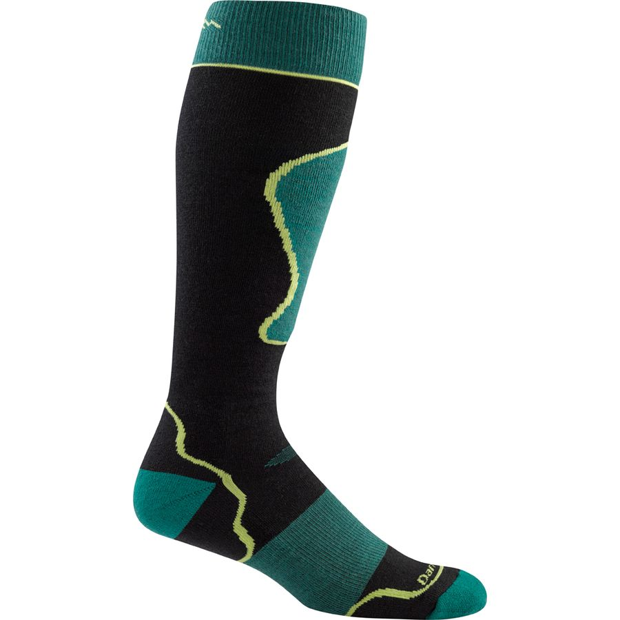 Darn Tough Merino Wool True Seamless Over-The-Calf Padded Ultra-Light Ski Sock - Mens