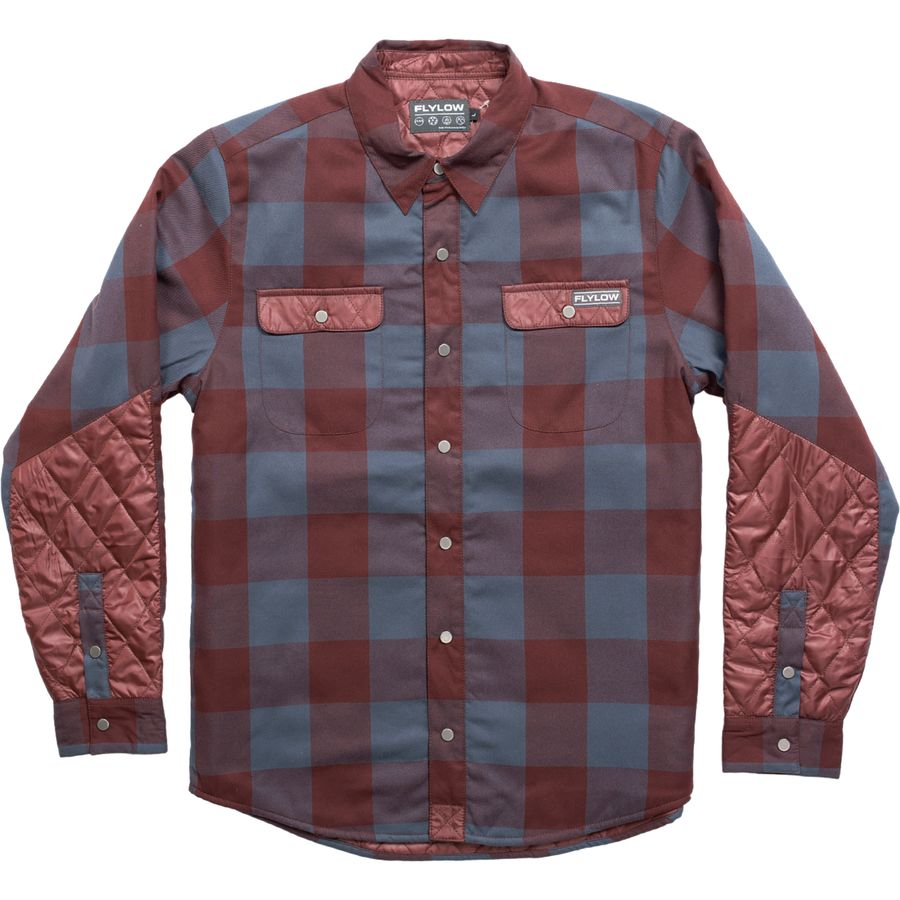 Flylow gear sinclair insulated flannel shirt jacket men for Mens insulated flannel shirts