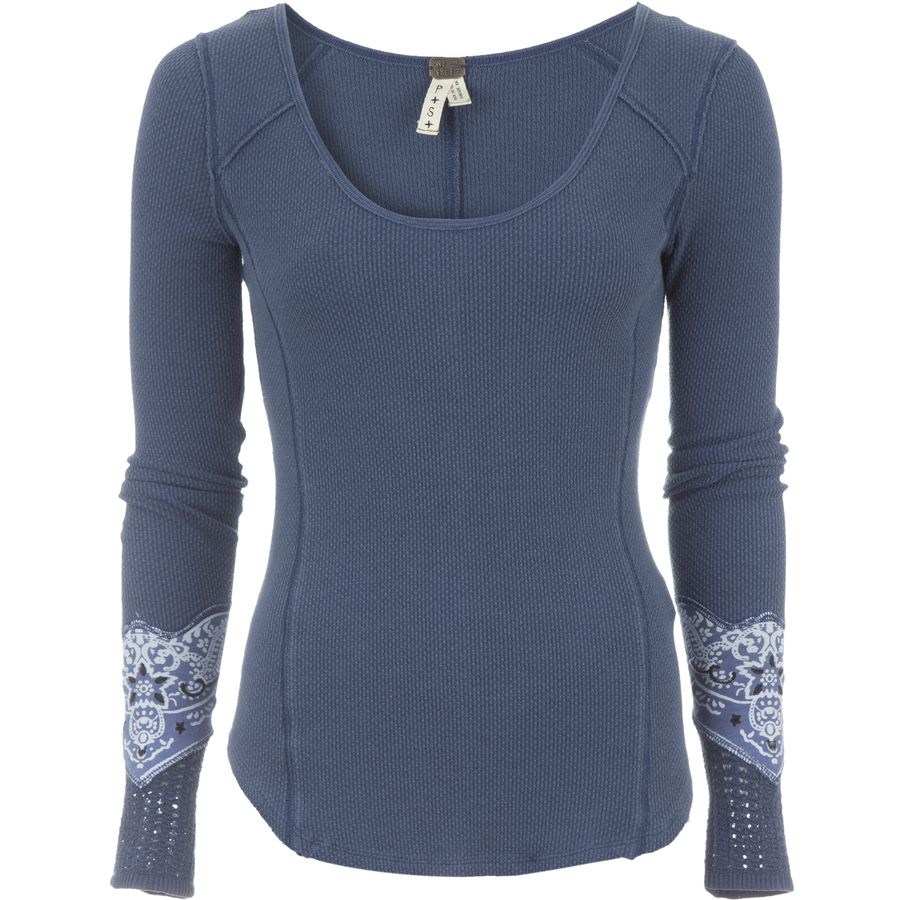 Free People Bandana Cuff Top - Long-Sleeve - Womens