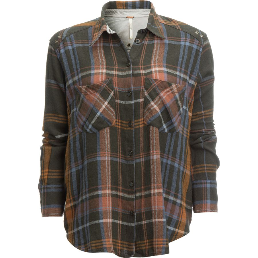 Free people wesley plaid button down shirt women 39 s for Plaid button down shirts for women