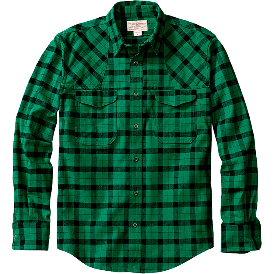 Filson flannel hunting shirt long sleeve men 39 s for Places to buy flannel shirts