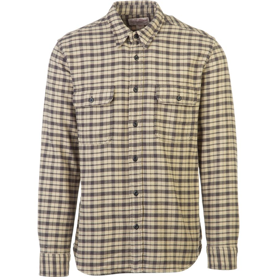 Filson vintage flannel work shirt long sleeve men 39 s for Places to buy flannel shirts