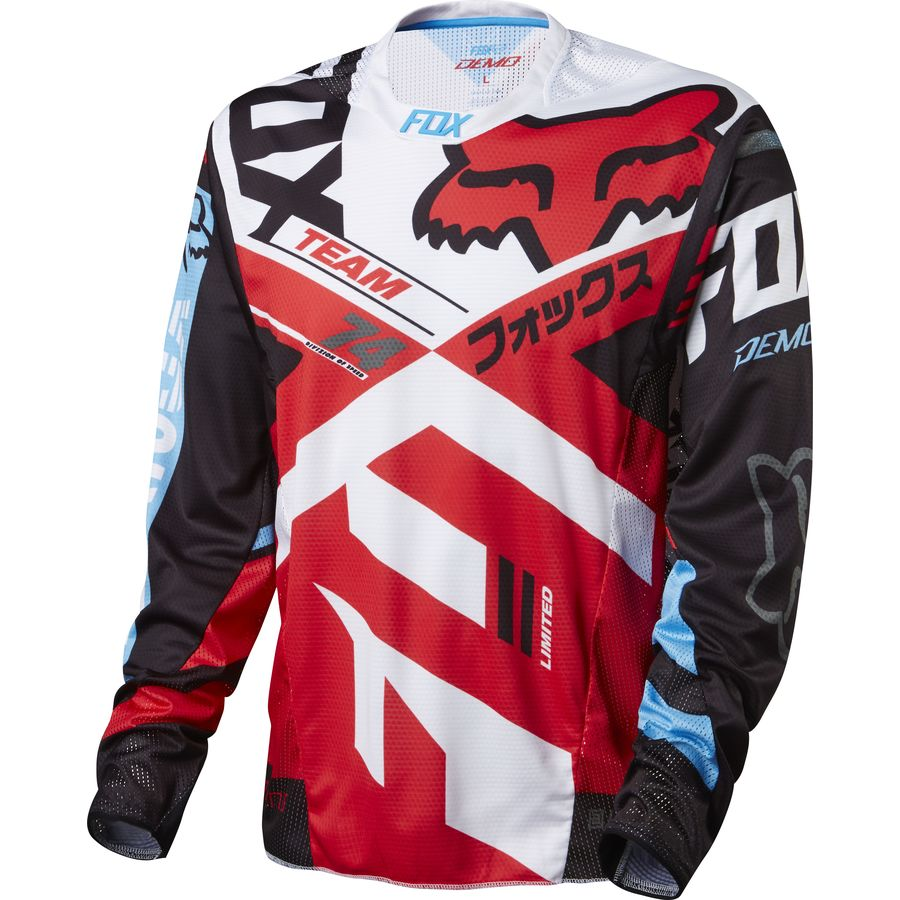 fox racing demo bike jersey long sleeve men 39 s. Black Bedroom Furniture Sets. Home Design Ideas