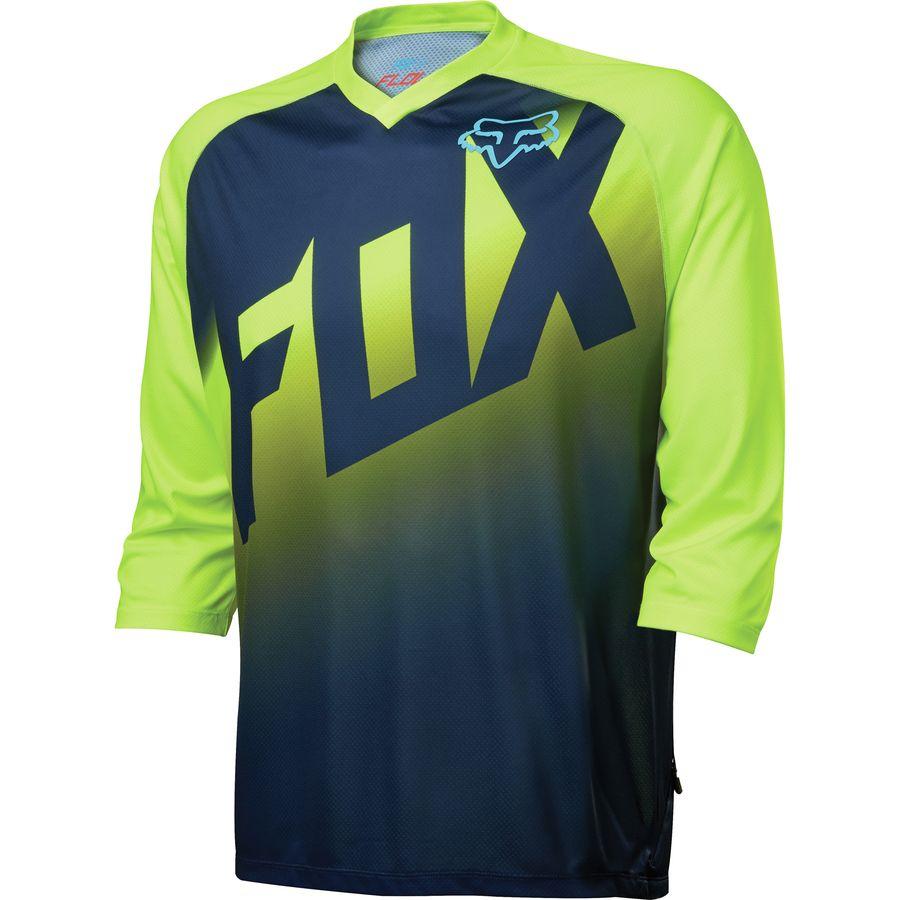 Fox Racing Flow Jersey - 3/4-Sleeve - Mens