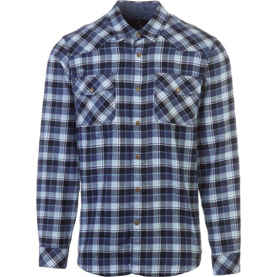 Gramicci off trail plaid flannel shirt long sleeve men 39 s for Long plaid flannel shirt
