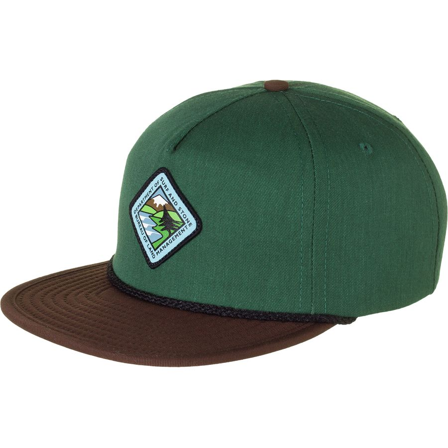Hippy tree land strapback hat for Fish hippie hats