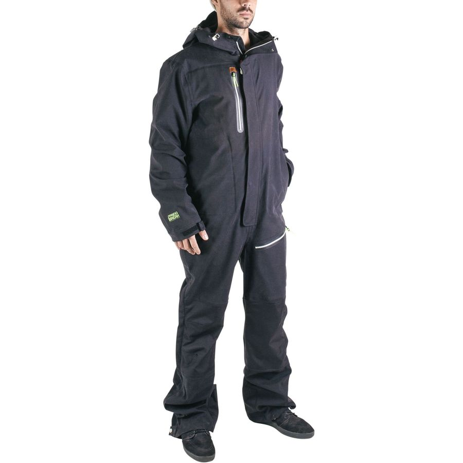 Men's and Women's one piece ski suits. We have modernised the retro all in one ski suit, to produce a technical alternative to even the best ski jackets & salopettes. Designed for performance and stand out style, our 4 way stretch fabric provides flexibility and protection for a day on the slopes.