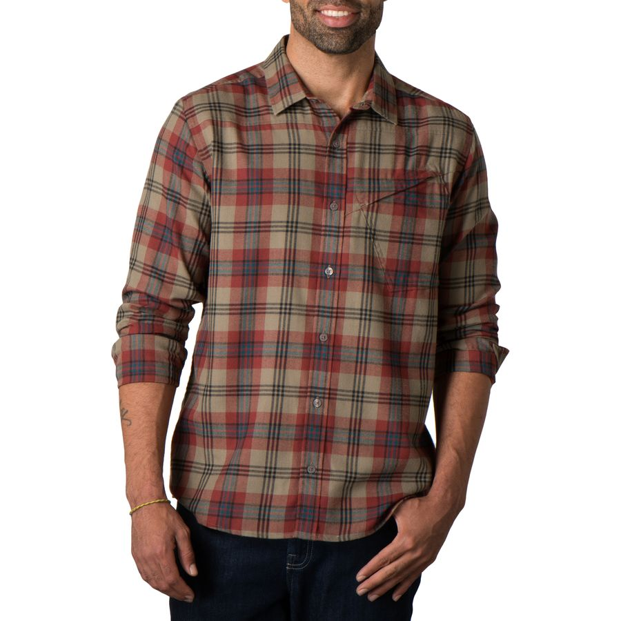Toad co dogma flannel shirt long sleeve men 39 s for Mens long sleeve flannel shirts