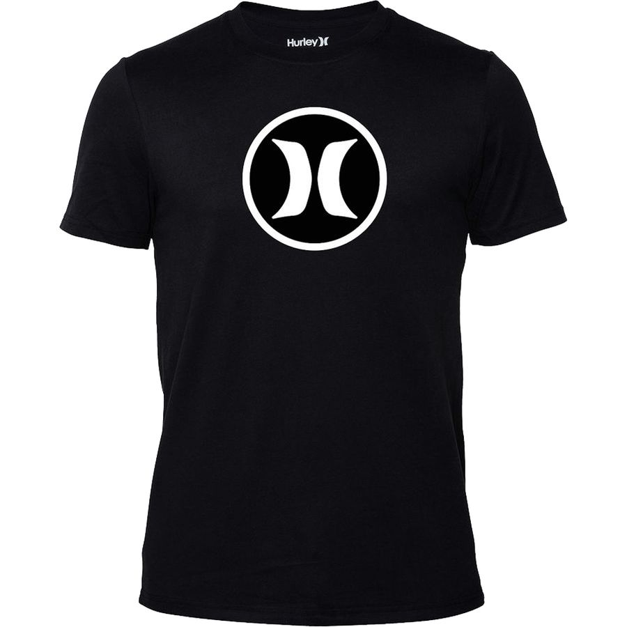 Hurley icon dri fit slim fit t shirt short sleeve men for Dri fit t shirts manufacturer