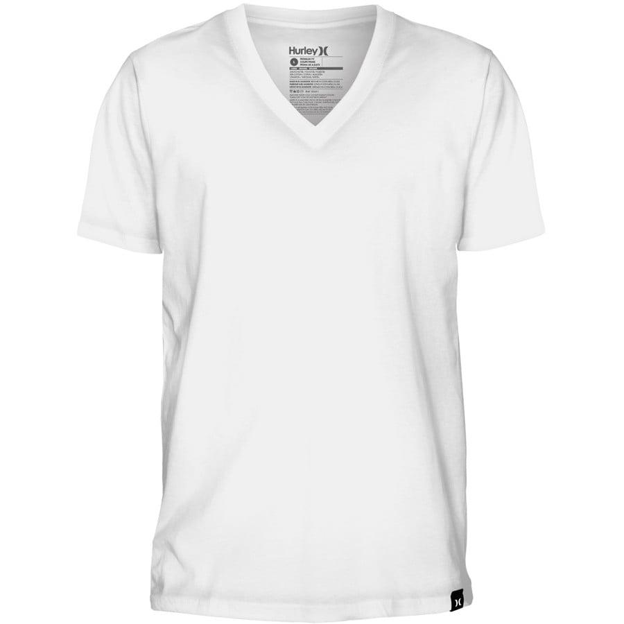 Hurley staple v neck t shirt short sleeve men 39 s for Best white t shirt women s v neck