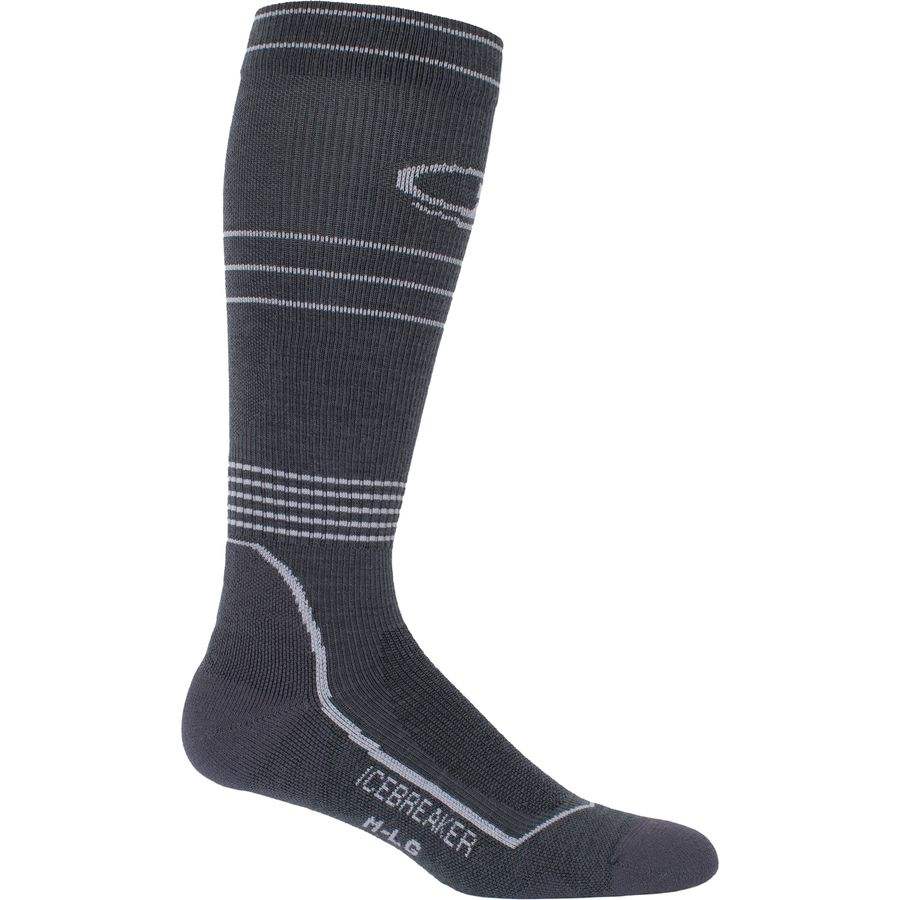 Icebreaker Hike Plus Light Cushion Anatomical Compression Over The Calf Sock - Mens