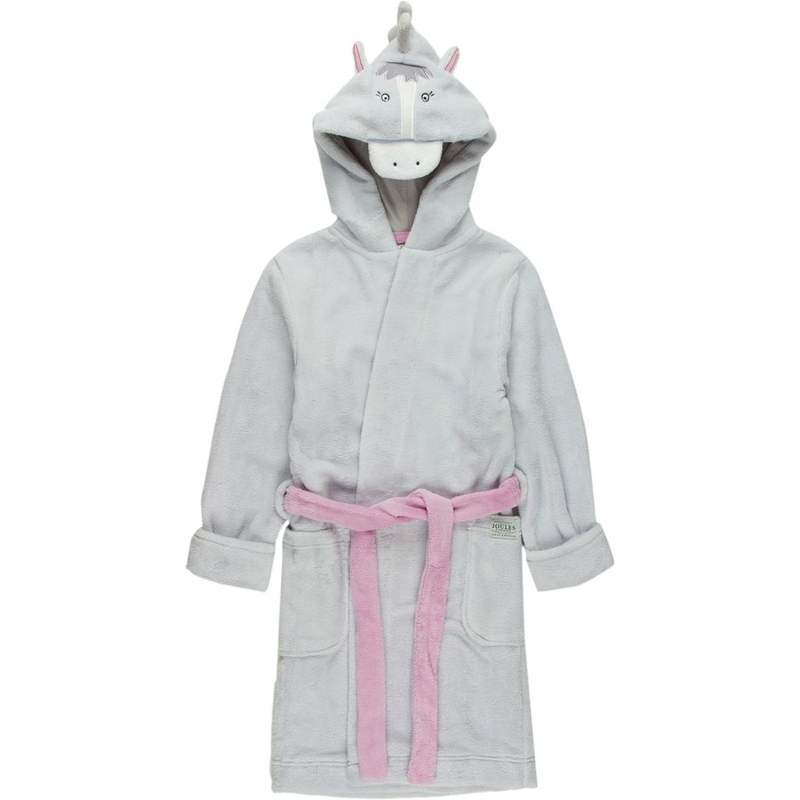joules nay fleece dressing gown girls 39. Black Bedroom Furniture Sets. Home Design Ideas