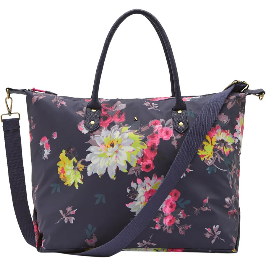 Joules Kembry Printed Canvas Overnight Bag