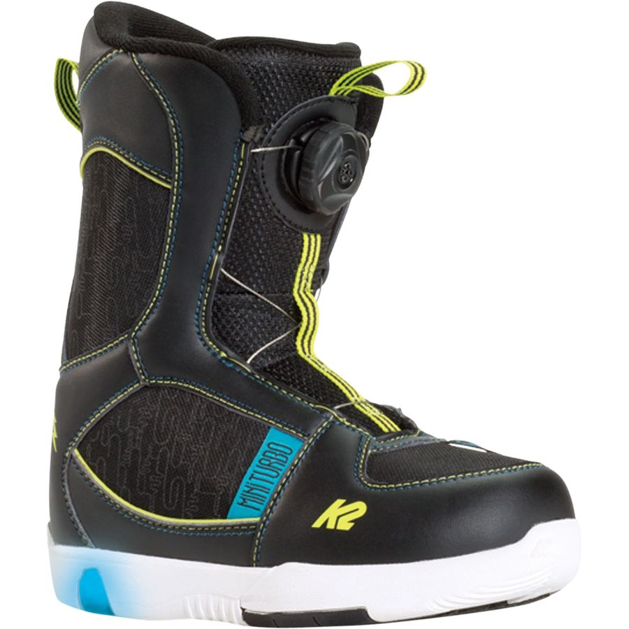 k2 snowboards mini turbo boa snowboard boot little boys 39. Black Bedroom Furniture Sets. Home Design Ideas