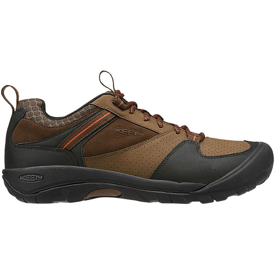 Spend a night on the town in comfortable, casual KEEN® boat shoes for men. KEEN® delivers rugged durability you can rely on. Take on any job with KEEN® men's steel-toe boots and head out in dry or wet terrain in KEEN® sandals for men.