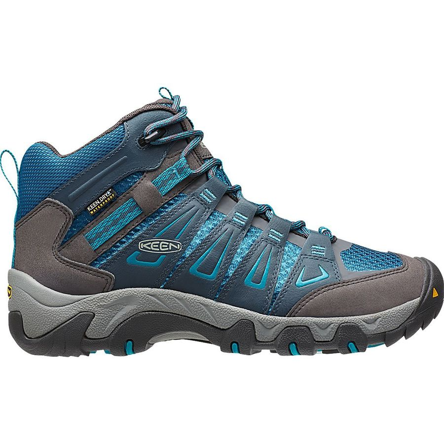 Elegant KEEN Womenu0026#39;s Targhee II Waterproof Hiking Shoes Black Olive/Mineral Blue