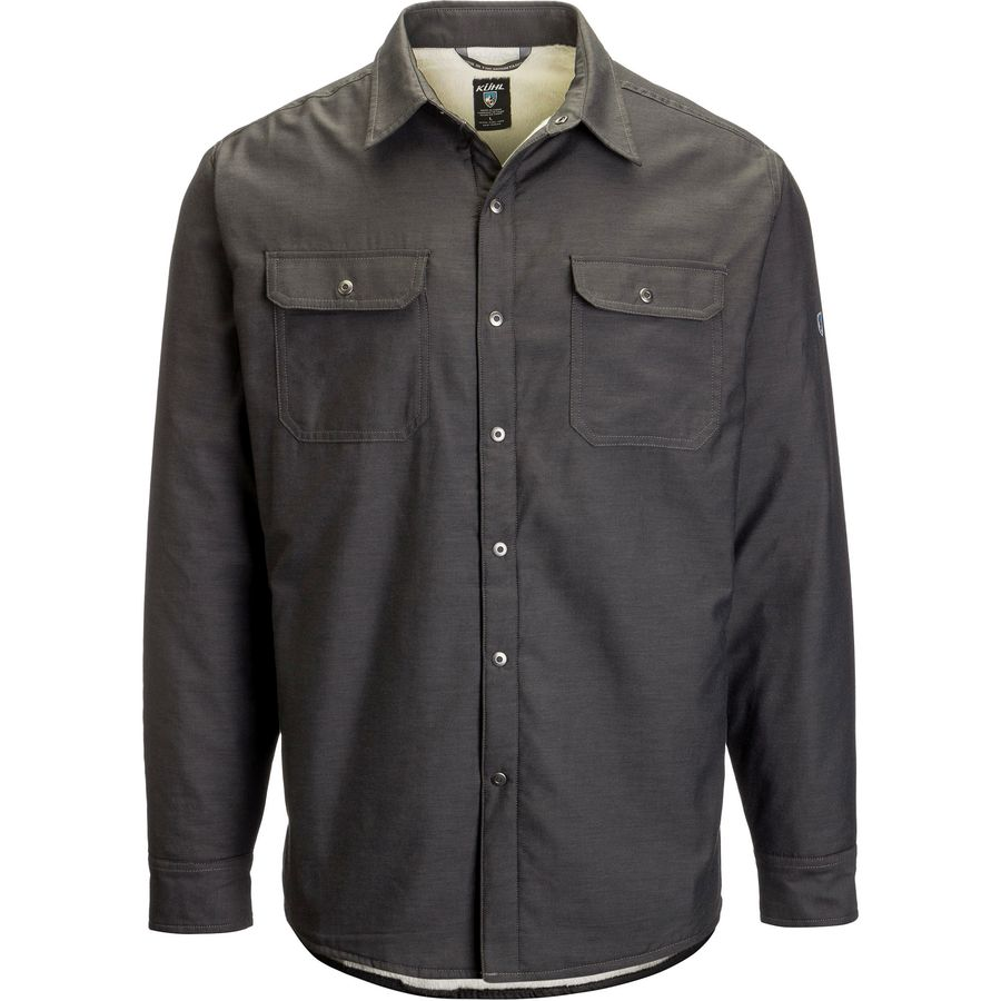 next to Carhartt, I find Wrangler to be the most consistent and predictable makers of mens' apparel. This plaid appears [on Amazon] as a brown, but when received it was definitely shades of gray and charcoal.